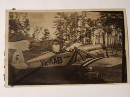 Photo Vintage. Original. Avion En Carton. Collage De Photos. Lettonie - Objets