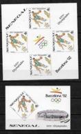 &BAR 26& SENEGAL MICHEL 1065B IN SHEETLET OF 4+BL 51B MNH**, BASKETBALL. ONLY 1000 ISSUED, OLYMPIC GAMES BARCELONA 92, - Senegal (1960-...)