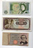 MONDE  LOT DE 6 BILLETS - Billets