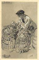 - Finistère- Ref-E673- Audierne - Illustrateur Homualk N°35 - Illustrateurs - Pêcheur Et Ses Nasses - Edit. Gaby - - Audierne