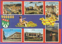Carte Postale Géographique  Département 88. Les Vosges  Très Beau Plan - Mapas