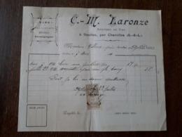 L24/166 Ancienne Facture. Ozolles. Vins Bourgogne. C.M.Laronze. 1911 - France