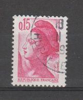 FRANCE / 1982 / Y&T N° 2180 : Liberté 15c - Choisi - Cachet Rond - France