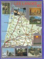 Carte Postale Géographique  Département 40. Les Landes   Très Beau Plan - Mapas