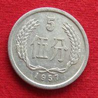 China 5 Fen 1957 Y# 3 Chine - Chine