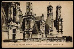CPA 41 CHATEAU DE CHAMBORD N°193 LES TERRASSES LUCARNES ET CHEMINEES ND LEVY ET NEURDEIN REUNIS PARIS - Chambord