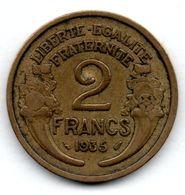 Semeuse  /  2 Francs 1935  --   état  TTB - I. 2 Francs