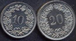Switzerland Swiss 10 20 Rappen 2011 UNC (Set 2 Coins) - Suisse