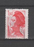 FRANCE / 1982 / Y&T N° 2187 : Liberté 1F60 Rouge - Choisi - Cachet Rond - France