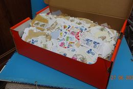 Raf 28 - Milliers Timbres Belge Sur Fragments A Trier - 1Kg510 - Briefmarken