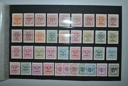 Belgique 1951/... Préoblitérés Sans Gomme - Typografisch 1951-80 (Cijfer Op Leeuw)