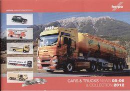 Cataogue HERPA 2012 CARS & TRUCKS News 05-06 & Collection 2012 O HO N - Libros Y Revistas