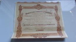 MANUFACTURE LYONNAISE DE COURONNES (1920) LYON - Actions & Titres