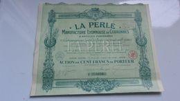 LA PERLE : MANUFACTURE LYONNAISE DE COURONNES (1933) LYON - Actions & Titres