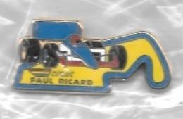 Pin's  Sport  Automobile  F 1 Circuit  Paul  RICARD  Signé  ARTHUS  BERTRAND - F1