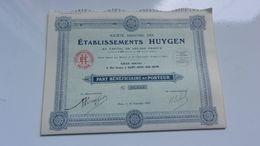 établissements HUYGEN (1927) Saint Ouen - Actions & Titres