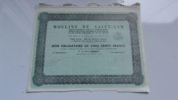 MOULINS DE SAINT = CYR (1937) Saint Cyr L'école - Actions & Titres