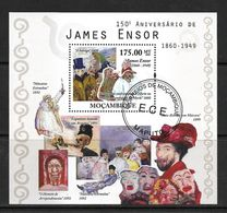 MOZAMBIQUE 2010 PEINTURES- JAMES ENSOR YVERT N°B333  OBLITERE - Künste