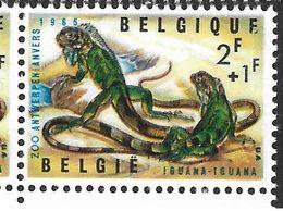 1345-V En Paire T27 Dernier E De Belgique Cassé (Alb. Noir N° 45) - Variétés Et Curiosités