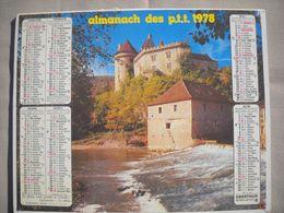1621 Calendrier Du Facteur PTT 1978   Illustration Le Château De Chenonceau  (Indre Et Loire) , Cabrerets (Lot) - Calendars