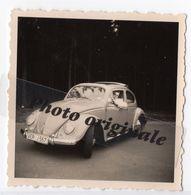 Photo Originale 1962 Autos Voitures Automobiles Cars - Volkswagen VW Coccinelle Ovale ? Découvrable Käfer Ovali ? Beetle - Automobili
