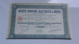 ELECTRICITE DE MOREZ DU JURA (1938) - Actions & Titres