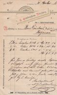 WURZBURG A GUNDERSHEIM TUCH UND BURKKIN DERFAUDT GESCHAFT ANNEE 1896  A MR DERNBACH HAGUENAU - Allemagne