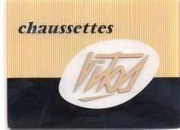 Plaque Publicitaire De Vitrine Pour Chaussettes Vitos En Verre, 12 X 9 Cm - Publicidad