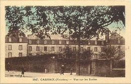 - Finistère- Ref-E656- Carhaix - Vue Sur Les Ecoles -  Ecole - édit. Rivière Bureau - Pons - N° 3847 - - Carhaix-Plouguer