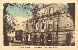 - Finistère- Ref-E655- Carhaix - Place De La Mairie  - édit. Guillou Et Rivière Bureau - Pons - N°3850 - - Carhaix-Plouguer