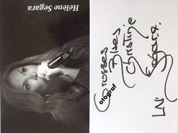 Hélène SEGARA - Dédicace - Hand Signed - Autographe Authentique - Singers & Musicians