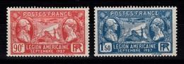 YV 244 & 245 N* Centrage Tres Bien Cote 6 Euros - Unused Stamps