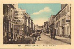 - Finistère- Ref-E654- Carhaix -avenue De La Gare- Magasin - Magasins - Publicité Kub - Rivière Bureau - Pons - N°3849 - - Carhaix-Plouguer
