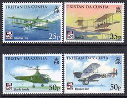 Tristan Da Cunha 2009 Centenary Of Naval Aviation Set Of 4, MNH, SG 939/42 - Tristan Da Cunha
