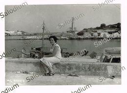 CROCIERA MOTO NAVE ANNA C - Ship Boat - Fotografia Originale - Ragazza Girl Pin Up - Greece Grecia - Bateaux
