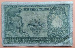 Billet De 50 Lire Italie - Autres