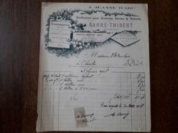L24/171 Ancienne Facture. Charolles . Confection . A Jeanne D'Arc. Barré Thibert . 1908 - France