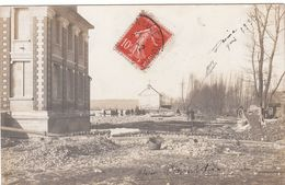 Villeneuve Sur Yonne. Carte-Photo Après L'inondation De 1910. - Villeneuve-sur-Yonne