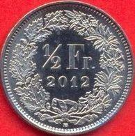 Switzerland Swiss 1/2 Franc 2012 UNC - Suiza