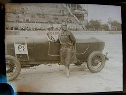Négatif Souple Photographie Mme G. BLUM Femme Pilote Gagnante De La 1ère 1/2 Finale à MONTLHERY En  1927 - Automobile