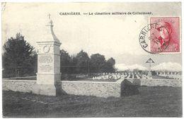 Carnières – Le Cimetière Militaire De Collarmont – Year 1920 – Stamp 10 C King Albert In Trench Helmet Red - La Louvière