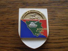 INSIGNE GROUPE D ARTILLERIE IGMAN BOSNIE 1995 PEU COURANT - Militaria