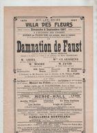 Affiche Aix Les Bains 1907 Villa Des Fleurs Opéra Damnation De Faust Claessens Moore Javid Ariel Flon - Affiches