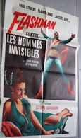 Ancienne Affiche De Cinéma Flashman Contre Les Hommes Invisibles John Heston Seyna Seyn 80cm X 60cm - Posters