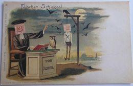 """Fälscher Schicksal """"Destinée Du Faussaire""""- Réimpression D'une Carte Ancienne - Stamps (pictures)"""