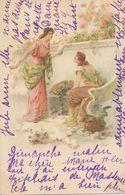 Art Card Viennoise . Belles Femmes Sur Peau Ours Polaire . Polar Bear Veers Chateau De La Motte St Germain L' Espinasse - Osos