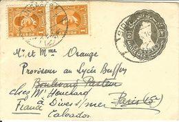 EGYPTE TIMBRE ENTIER 2 MILLIEMES ET 1 PAIRE TIMBRES 1 MIL 1915 - 1915-1921 Protectorado Británico