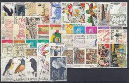 ESPAÑA 1985 Nº 2778/2824 AÑO COMPLETO USADO 45 SELLOS + 1 HB - Spanien