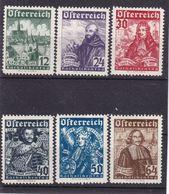 # E.12244 Austria 1933 Full Set MLH, Michel 557 - 562: Catholic Day - 1918-1945 1ra República