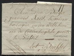 Précurseur Avec Cont. Par Porteur De MOERBEKE Vers Bruxelles 1802 + Cito Cito (x210) - 1794-1814 (Période Française)